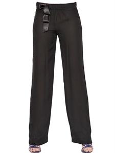Pantaloni in georgette di seta