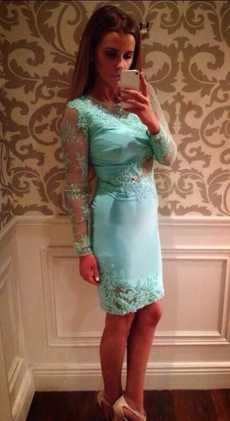 dress turquoise lace dress