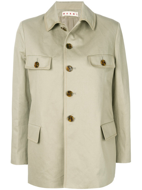 MARNI jacket women nude cotton