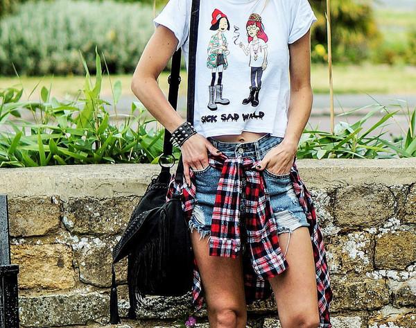 top t-shirt bag streetstyle summer oytfit stylemoi hipster