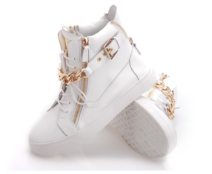 fashion GZ sneakers 2013 women's shoes punk genuine leather metal chain flat casual sport shoes female on Aliexpress.com