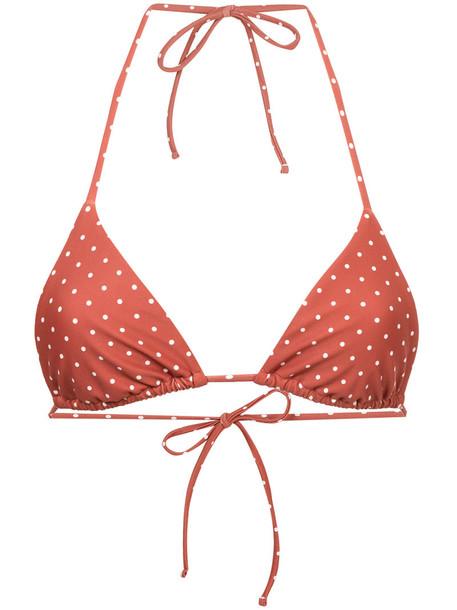 MATTEAU bikini bikini top triangle bikini triangle women spandex yellow orange swimwear