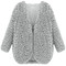 Grey faux lambswool jacket