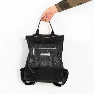 bag maniere de voir clutch backpack rucksack snake embossed