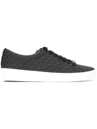 women sneakers leather cotton print black shoes