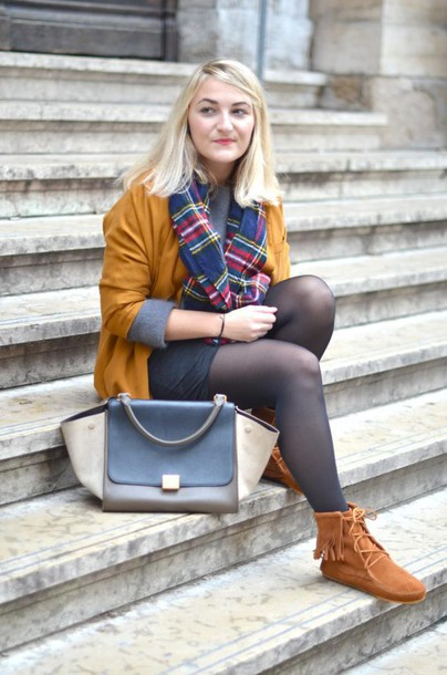 paris grenoble blogger rust fringe shoes shoes