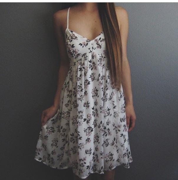 dress tumblr dress cute dress floral dress summer summer dress
