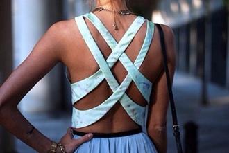 top short blouse back