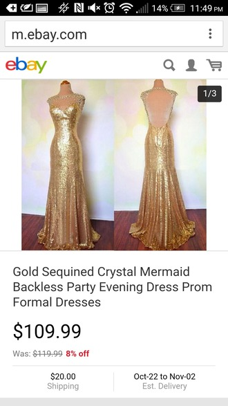 dress gold silver gold dress prom homecoming elegant beautiful shimmering shiny sequins mermaid fit long long dress long prom dress lace sleeve prom dress lace sleeve mermaid dress see through mermaid dress
