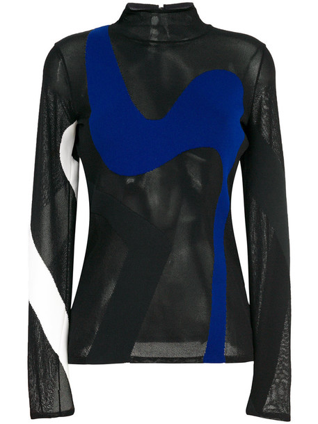 Proenza Schouler top knitted top sheer women black