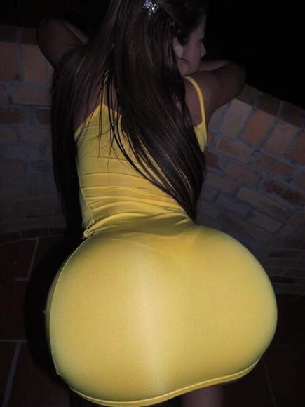 yellow yellow dress sexy dress ass sexy
