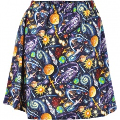 Mod Dolly | Milky Way Space Print Skirt | Spoiled Brat