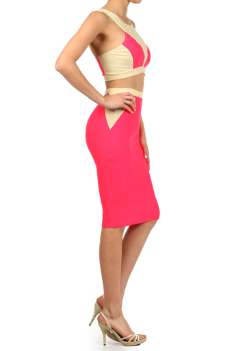 Two Piece High Waist Party Set