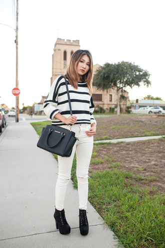 atsuna matsui atsuna matsui » blogger t-shirt sweater dress shoes bag jeans