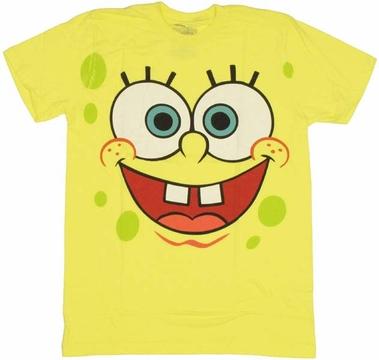 Spongebob squarepants face t shirt sheer