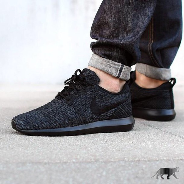 official photos 05448 c144e shoes black shoes nike shoes nike roshe run mens shoes nike roshe runs yeezy