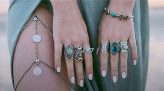 jewels leg chain ring bracelets