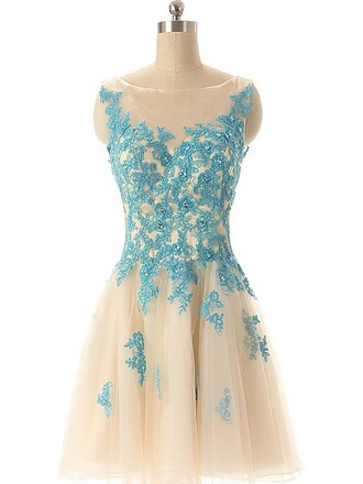 dress prom prom dress dressofgirl cute short short dress sexy sexy dress fashion lace tulle dress blue transparent scoop neck scoop gown trendy girly cute dress mini mini dress style stylish sparkle sparkly dress flowers floral floral dress