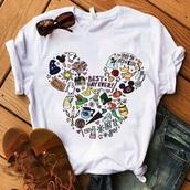 shirt,white t-shirt,mickey mouse shirt,disneyland