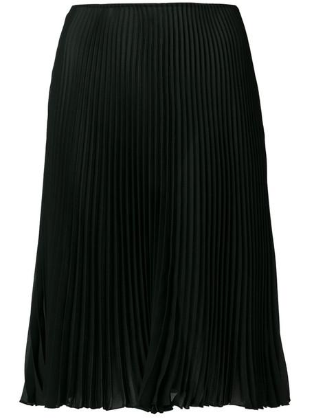 skirt women black silk