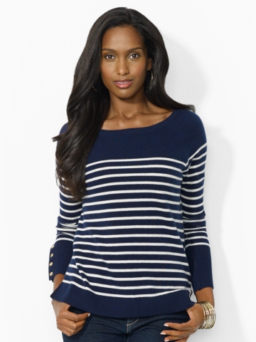 Striped Wool-Cashmere Sweater - Crewnecks & Tanks   Sweaters - RalphLauren.com