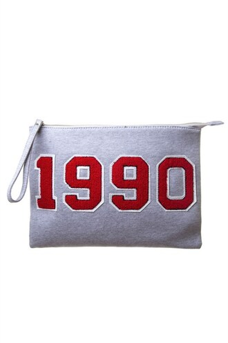 bag trendyish 1990 25 24 varsity clutch purse
