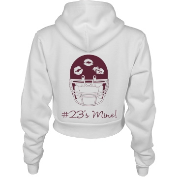 Trendy Football Girl: Custom Junior Fit American Apparel Crop Full Zip Hoodie - Customized Girl
