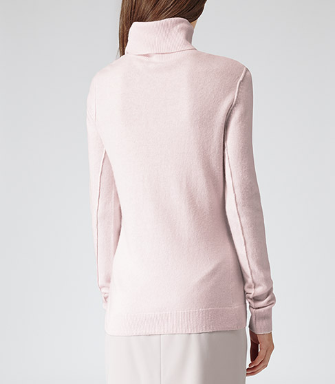 Ember Blush High Neck Jumper - REISS