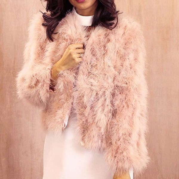 ded9834ea02 jacket one nation clothing feather coat pink feather feathers feather jacket  fuzzy coat 36683 marabou