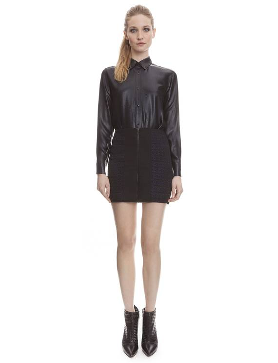 Chemise Chrome Noir - Chemises Sandro - E-Boutique Officielle SANDRO / Collection Printemps-Été 2013 SANDRO