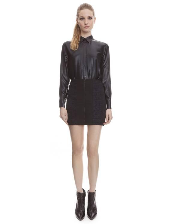 Chemise Chrome Noir - Chemises Sandro - E-Boutique Officielle SANDRO / Collection Printemps-Été 2013 SANDRO
