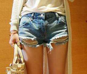 Torn vintage denim shorts · fashion struck · online store powered by storenvy