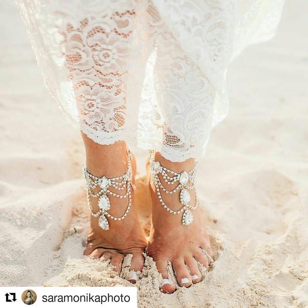 fb133cb0ec461 jewels nelipots boho jewelry bridal jewellery barefoot blonde barefoot  sandals anklet holiday gift honeymoon fashion bridal