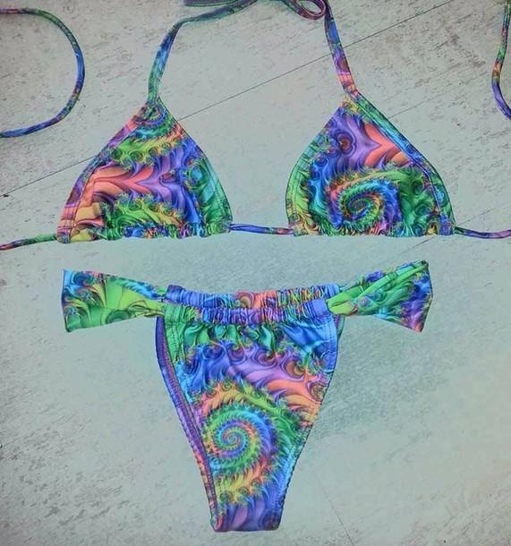 swimwear colorful bikini beazilian bikini
