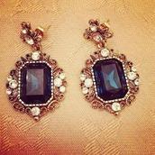 jewels,earrings,swarowski,gold earrings,silver earrings,big earrings
