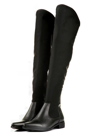 Elastic Toe Pointed Thigh High Boots [FABI1396] - PersunMall.com