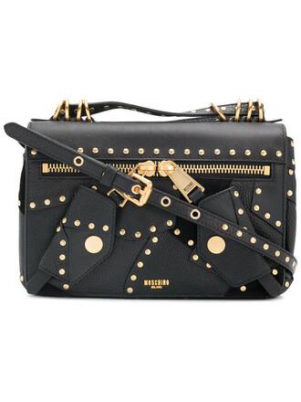 studded women bag shoulder bag leather black