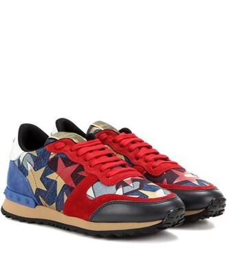 suede sneakers denim sneakers suede red shoes