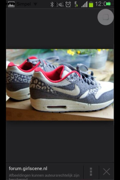 shoes air max panter print shows sneakers