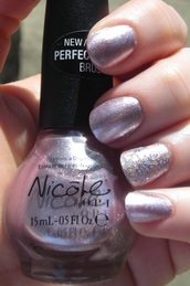 nail polish,purple,lilac,pink,sparkle,nicole,opi,nicole by opi,independent woman,opi nails