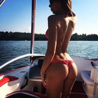 swimwear coral brazilian bikini bottom