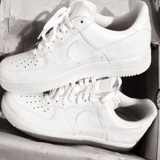 shoes nike nike air force nike air force 1 nike air airforceonelow nike air force one low nike air white white nikes nikes white cute style white shoes trainers high tops white sneakers nike running shoes