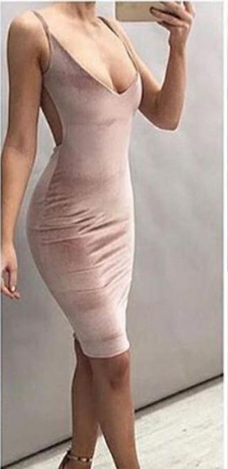 dress nude dress velvet