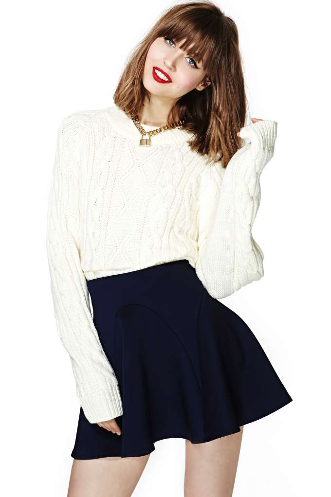 Nasty Gal Kayla Skater Skirt in  Clothes Bottoms at Nasty Gal