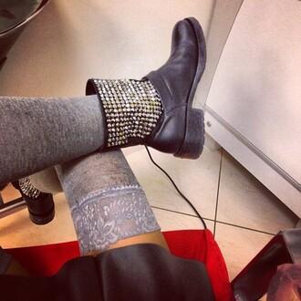underwear lace cute grey stockings