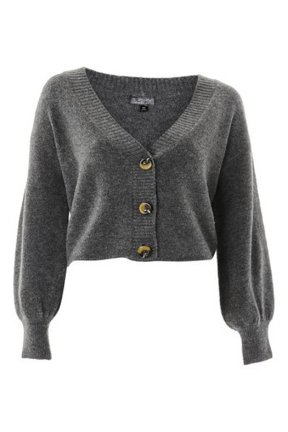 Topshop cardigan cardigan soft charcoal sweater