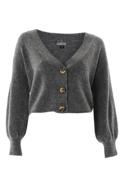 Topshop cardigan cardigan soft charcoal sweater