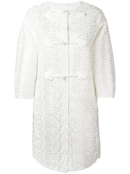 Ermanno Scervino coat transparent women white
