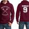 Beacon hills lacrosse dunbar 9 maroon hoodie