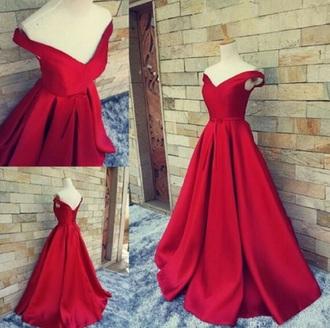 dress red red dress ball gown dress elegant dress long dress